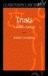 Trusts: A Modern Analysis - Chambers, Robert (professor Of Property Law At University College London) - ISBN: 9780199236459
