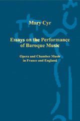 Essays On The Performance Of Baroque Music - Cyr, Mary - ISBN: 9780754659266