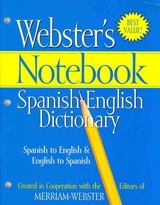 Webster's Notebook Spanish-English Dictionary - Merriam-Webster (EDT) - ISBN: 9781596950580