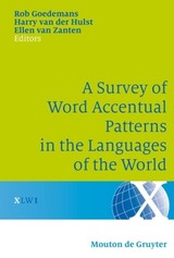 Survey Of Word Accentual Patterns In The Languages Of The World - ISBN: 9783110196313