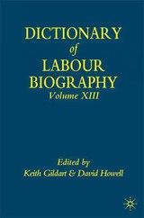 Dictionary Of Labour Biography - ISBN: 9780230004566