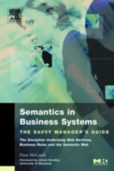 The Savvy Manager's Guides, Semantics in Business Systems - McComb, Dave - ISBN: 9780080498126