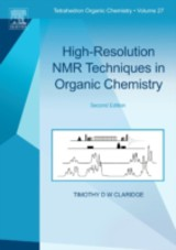 Tetrahedron Organic Chemistry, High-Resolution NMR Techniques in Organic Chemistry - Claridge, Timothy D.w. - ISBN: 9780080915036