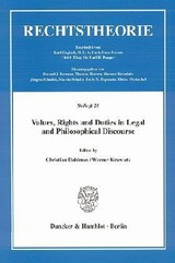 Values, Rights and Duties in Legal and Philosophical Discourse - ISBN: 9783428116850