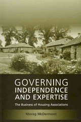Governing Independence And Expertise - Mcdermont, Morag - ISBN: 9781841139890