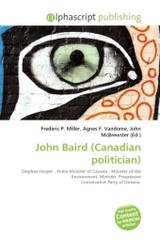 John Baird (Canadian politician) - ISBN: 9786130793852