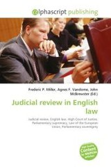 Judicial review in English law - ISBN: 9786130866570