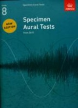 Specimen Aural Tests, Grade 8 - Abrsm - ISBN: 9781848492554