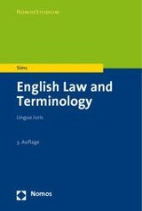 English Law and Terminology - Sims, Vanessa - ISBN: 9783832949518