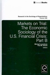 Markets On Trial - Lounsbury, Michael (EDT)/ Hirsch, Paul M. (EDT) - ISBN: 9780857242075
