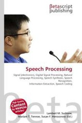 Speech Processing - ISBN: 9786130342630