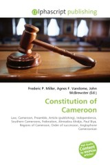 Constitution of Cameroon - ISBN: 9786130721657