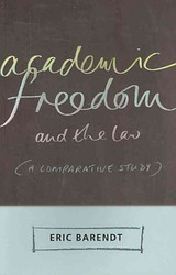 Academic Freedom And The Law - Barendt, Professor Eric - ISBN: 9781841136943