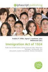 Immigration Act of 1924 - ISBN: 9786130842765