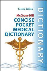 Mcgraw-hill Concise Pocket Medical Dictionary, Second Edition - Panda, U - ISBN: 9780071759991