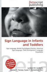 Sign Language in Infants and Toddlers - ISBN: 9786131363924