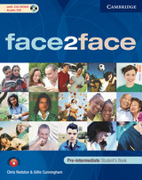 Face2face Pre-intermediate - Redston, Chris/ Cunningham, Gillie - ISBN: 9780521722186