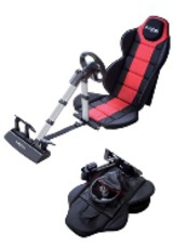 New racing seat + steering wheel PS3/PS2/PC (Bigben) - ISBN: 3499550297522