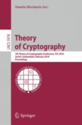 Theory Of Cryptography - Micciancio, Daniele (EDT) - ISBN: 9783642117985