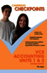 Cambridge Checkpoints Vce Accounting Units 1 And 2 - Joyce, Tim - ISBN: 9781107657090