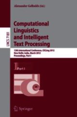 Computational Linguistics And Intelligent Text Processing - Gelbukh, Alexander (EDT) - ISBN: 9783642286032