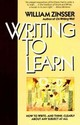 Writing To Learn Rc - Zinsser, William - ISBN: 9780062720405