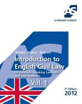 Introduction to English Civil Law for German-Speaking Lawyers and Law Students. Vol.1 - ISBN: 9783867522373