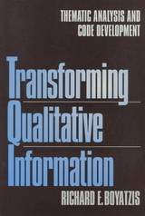 Transforming Qualitative Information - Boyatzis, Richard E. - ISBN: 9780761909613