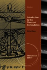 Introduction To The Theory Of Computation, International Edition - Sipser, Michael (massachusetts Institute Of Technology) - ISBN: 9781133187813