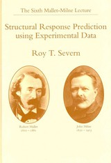Structural Response Prediction Using Experimental Data - Severn, R.T. - ISBN: 9789054106890