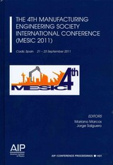 The 4th Manufacturing Engineering Society International Conference (MESIC 2011) - Marcos, Mariano (EDT)/ Salguero, Jorge (EDT) - ISBN: 9780735410176