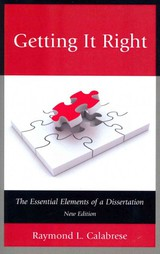 Getting It Right - Calabrese, Raymond L. - ISBN: 9781610489201