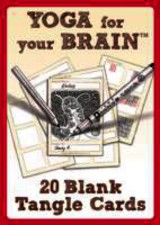 Yoga For Your Brain - 20 Blank Tangle Cards - Sandy - ISBN: 9781574213591