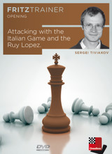 Fritztrainer opening, Attacking with the Italian Game and the Ruy Lopez - Tiviakov, S. - ISBN: 4027975007694