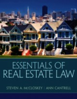 Essentials Of Real Estate Law - Cantrell, Ann; Mccloskey, Steven A. - ISBN: 9780135114285