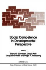 Social Competence In Developmental Perspective - ISBN: 9789401076029