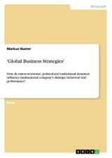 'global Business Strategies' - Hueter, Markus - ISBN: 9783640680924