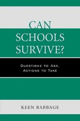 Can Schools Survive? - Babbage, Keen - ISBN: 9781475808674