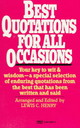 Best Quotations For All Occasions - Henry, Lewis C. - ISBN: 9780449300374