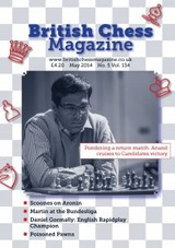 British Chess Magazine May 2014 - ISBN: 2001000149438