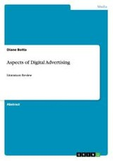 Aspects Of Digital Advertising - Botta, Diane - ISBN: 9783656738848