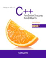 Starting Out With C++ - Gaddis, Tony - ISBN: 9780134059853