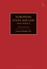 European State Aid Law And Policy - Quigley, Conor - ISBN: 9781849466271