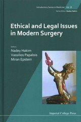 Ethical And Legal Issues In Modern Surgery - Hakim, Nadey; Papalois, Vassilios; Mansell, Martin - ISBN: 9781848162464