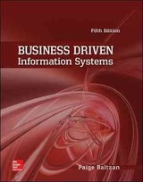 Business Driven Information Systems - Baltzan, Paige; Phillips, Amy - ISBN: 9780073402987