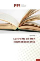 L'astreinte en droit international privé - Gavriloff, Julie - ISBN: 9783841745811