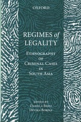 Regimes Of Legality - ISBN: 9780199456741