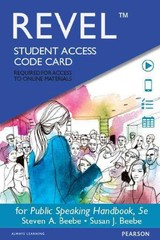 Public Speaking Handbook Revel Access Card - Beebe, Steven A./ Beebe, Susan J. - ISBN: 9780133922615