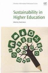 Sustainability In Higher Education - ISBN: 9780081003671