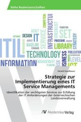 Strategie Zur Implementierung Eines It Service Managements - Haselbauer Harald - ISBN: 9783639866209
